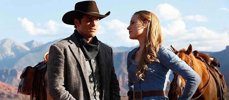 Rachel Evan Woods e James Marsden em Westworld